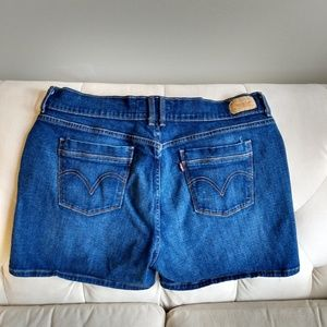 LEVI'S Shorts 16 Blue Elastane Stretch Women's
